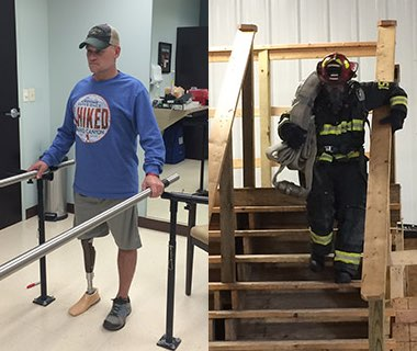 First Above-the-knee Amputee Firefighter Recalls Road to Recovery